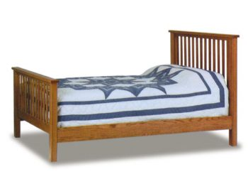 "Amish Mission 2.5"" Post Mission Bed"