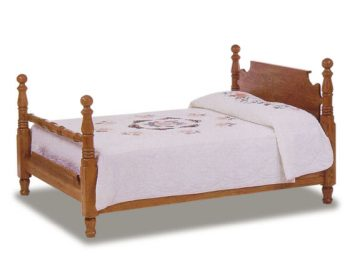 Amish Cannonball Bed with Straight Headboard