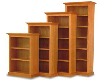 "36"" and 48"" Amish Executive Bookcases"