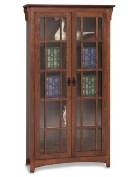 Amish Mission Double Door Bookcase