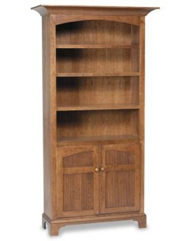 New Bedford Shaker Amish Bookcase with Doors