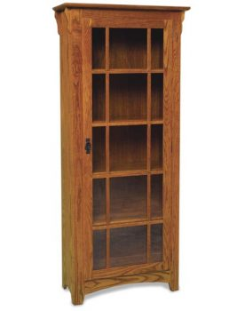 Amish Mission Single Door Bookcase