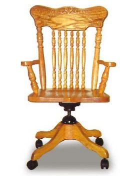 Amish Press Back Desk Chair