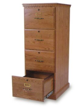 Amish 4 Drawer File Cabinet