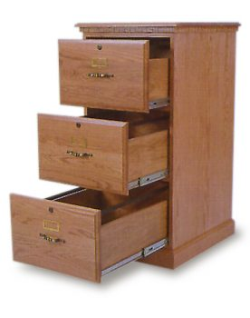 Amish 3 Drawer File Cabinet