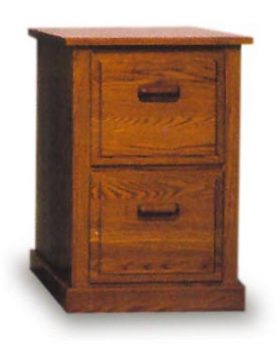 Amish Office 2 Drawer Filing Cabinet