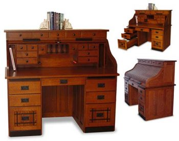 "56"" Amish Mission Rolltop Desk"
