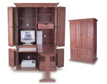Amish built Deluxe Computer Armoire