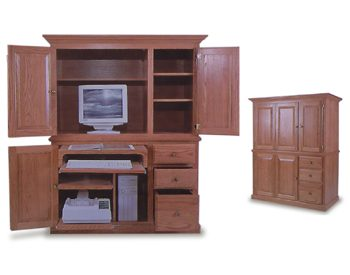 Merveilleux Amish Computer Desk And Filing Center
