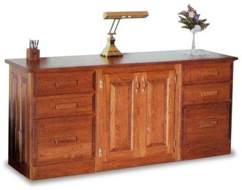 "68"" Amish Office Credenza with Doors"