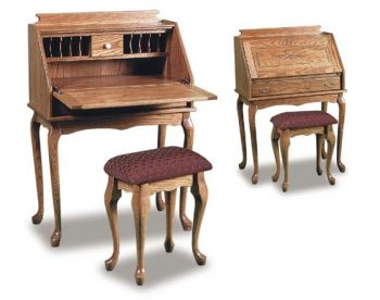 Amish Queen Anne Desk with Bench