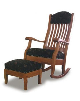 Auntie's Rocking Chair and Footstool