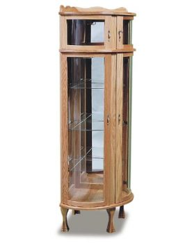 Amish Corner Curio with Bonnet