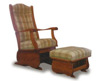 Amish Glider and Ottoman Combination