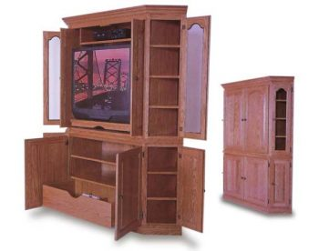 Amish 2 Piece Corner Entertainment Center