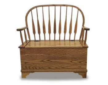 Bow Back Feather Deacon Bench