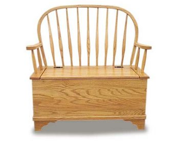 Bent Feather Deacon Storage Bench