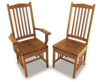 Regular Mission Amish Dining Room Chairs