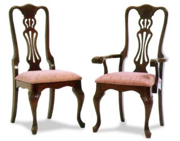 Reeded Queen Anne Amish Dining Room Chairs