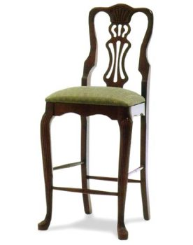 "24"" Reeded Queen Anne Barchair"