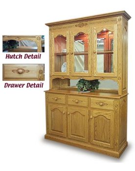 Regal 3 Door Amish Deluxe Hutch