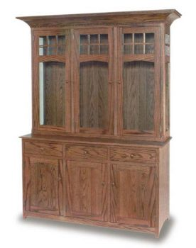 Santa Fe Mission 3 Door Amish Hutch