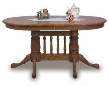 Oval Top 36x60 Amish Dining Room Table