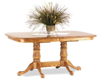 Victoria Table with Fluted Pedestal