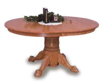 Oval Claw Foot Amish Dining Room Table Amish Dining Room Furniture - Claw foot dining room table