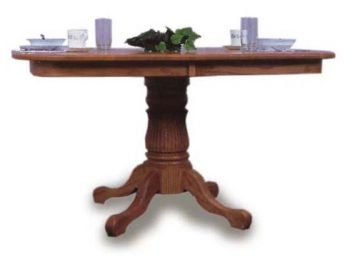 Single Pedestal Amish Dining Room Table