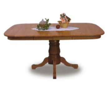 "48"" Queen Anne Top Amish Table"