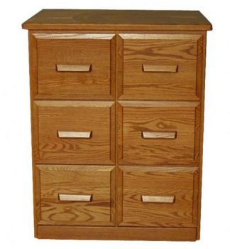 Amish Double Vertical File Cabinets