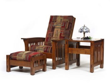 Amish Morris Chair and Ottoman