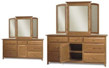 English Shaker Dressers and Mirrors