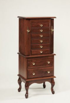 "48"" Queen Anne Jewelry Armoire"