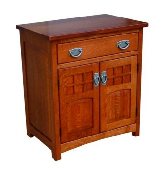Royal Santa Fe Mission Nightstand with Doors