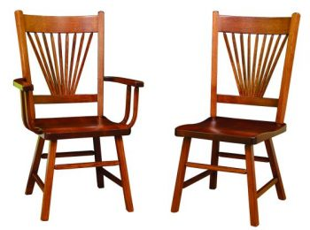 Amish Mission Fantail Chairs
