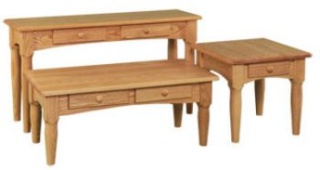 Contemporary Amish Shaker Accent Tables