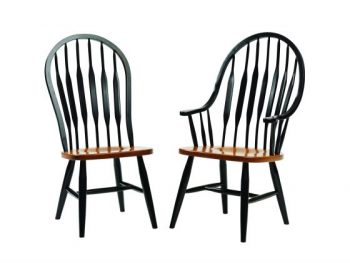 Plain Leg Bend Back Amish Chairs