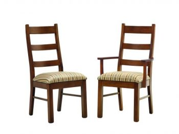 Amish Upholstered Ladder Back Chairs