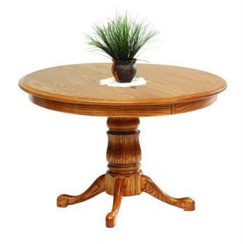 Single Fluted Pedestal Queen Victoria Table