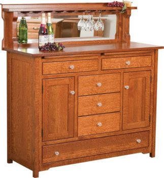 Bonzer Wine Buffet with Center Drawers