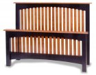 Amish Fresno Arched Slat Bed