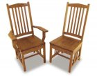 Regular Mission Amish Dining Room Chairs (0117-55)