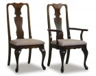 Queen Anne Upholstered Amish Dining Room Chairs