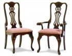 Reeded Queen Anne Amish Dining Room Chairs (0134-14)