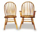 Low Bent Amish Dining Room Chairs