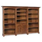 Alternate View of New Bedford Shaker Amish Bookcase with Doors