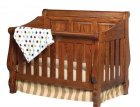 Raised Panel Heirloom Crib (1105-75)